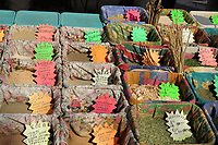 Fresh spices for sale in a french market