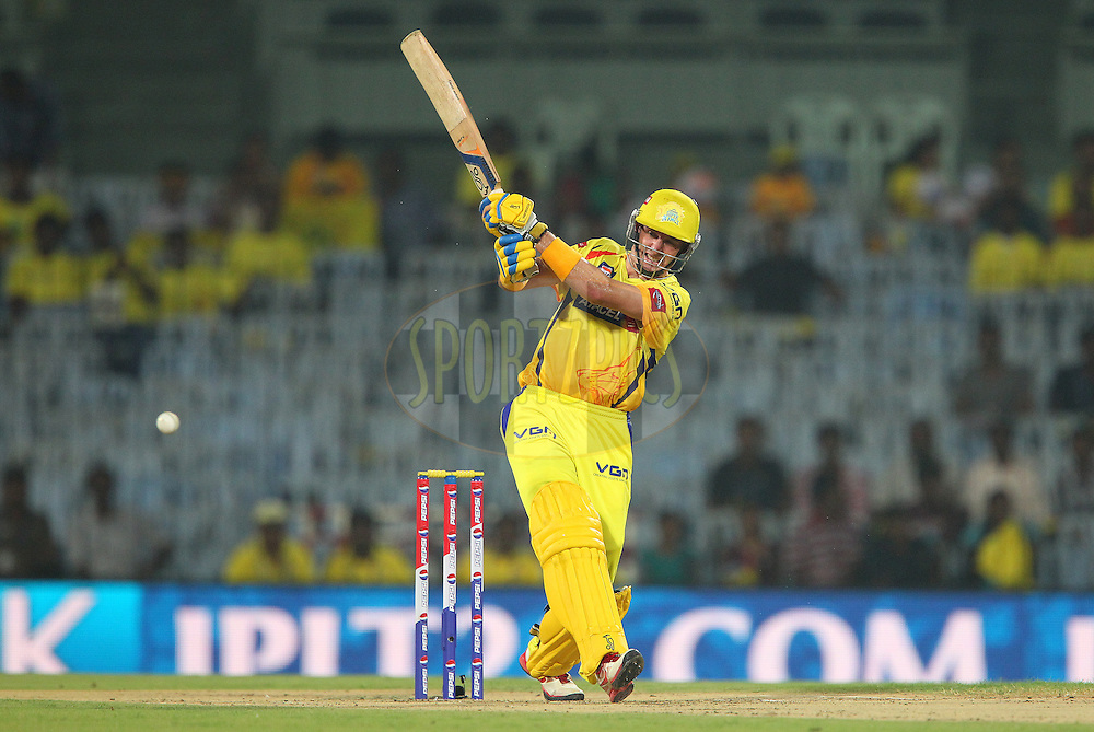 Michael Hussey during match 64 of the Pepsi Indian Premier League between The Chennai Superkings and the Delhi Daredevils held at the MA Chidambaram Stadium in Chennai on the 14th May 2013..Photo by Ron Gaunt-IPL-SPORTZPICS   .. .Use of this image is subject to the terms and conditions as outlined by the BCCI. These terms can be found by following this link:..http://www.sportzpics.co.za/image/I0000SoRagM2cIEc