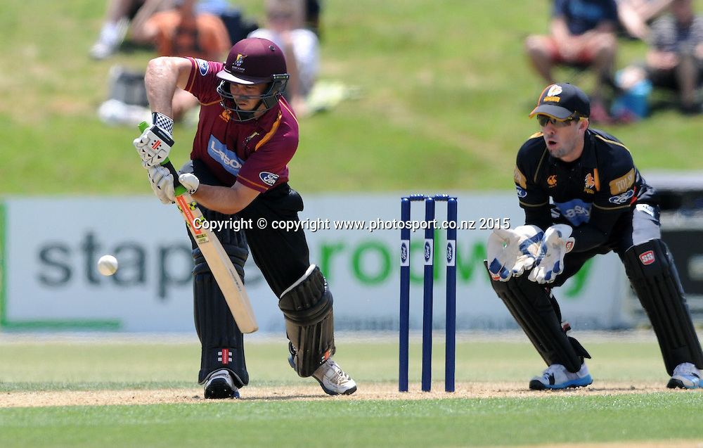 Northern Knight's Daniel Flynn in action in the Ford Trophy One Day cricket match, Knights v Firebirds, Bay Oval, Mt Maunganui, Thursday, January 01, 2015. Photo: Kerry Marshall / photosport.co.nz