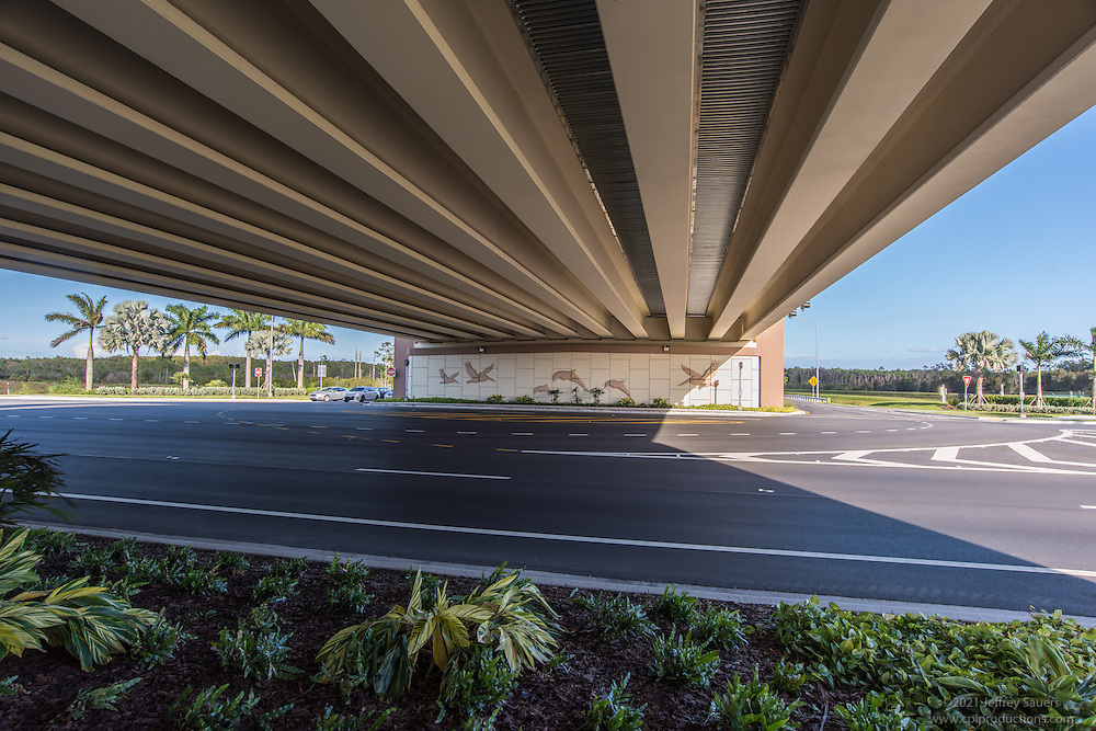 Image of Southwest Florida International Airport I-75 direct connect road in Fort Myers Florida by Jeffrey Sauers of Commercial Photographics, Architectural Photo Artistry in Washington DC, Virginia to Florida and PA to New England