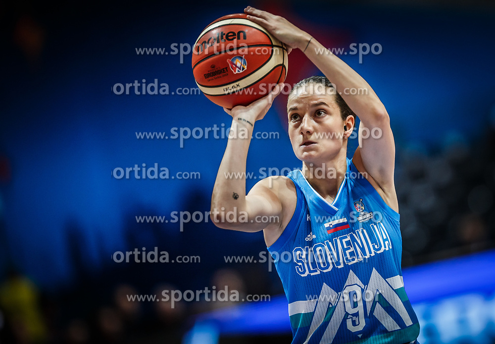 Nika Baric of Slovenia during basketball match between Women National teams of Italy and Slovenia in Group phase of Women's Eurobasket 2019, on June 30, 2019 in Sports Center Cair, Nis, Serbia. Photo by Vid Ponikvar / Sportida