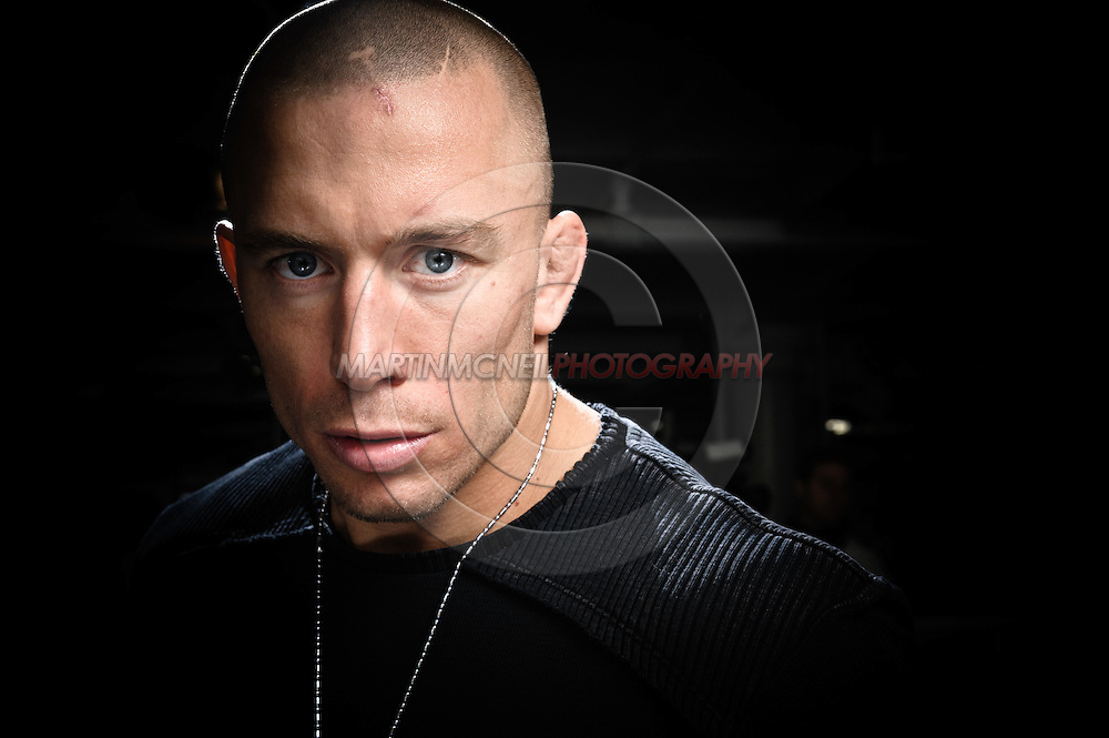 """A portrait of mixed martial arts athlete Georges """"Rush"""" St. Pierre"""