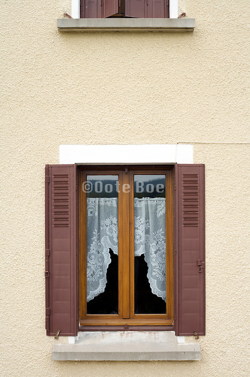 window of a domestic house seen from the outside Europe France
