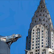 The Chrysler Building in New York City was built in 1930. For a few months, this Art Deco skyscraper was the tallest structure in the world. It was also one of the first buildings composed of stainless steel over a large exposed surface.<br /> <br /> The Chrysler Building is renowned for its terraced crown, which is an extension of the main tower. Composed of seven radiating terraced arches, a radiating sunburst pattern with many triangular vaulted windows, eagle gargoyles echo the treatment of the 31st, to the spire.