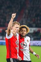 ROTTERDAM - Feyenoord - ADO Den Haag , Voetbal , KNVB Beker , Seizoen 2016/2017 , De Kuip , 14-12-2016 , Feyenoord speler Dirk Kuyt (l) viert zijn goal voor de 2-0 met Feyenoord speler Tonny Vilhena (r)
