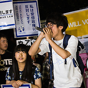 TOKYO, JAPAN - JUNE 10 : High school students from T-nsSOWL (Teens Stand up to Oppose War Law) stage a demonstration in front of Japanese National Parliament in Tokyo, Japan on June 10, 2016. A series of protest by T-nsSOWL students calling Japanese Prime Minister Shinzo Abe to step down from administration.  Photo: Richard Atrero de Guzman