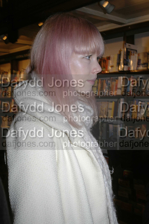 Erin Fetherston , Book launch of Pretty Things by Liz Goldwyn at Daunt <br />Books, Marylebone High Street. London 30 November 2006.   ONE TIME USE ONLY - DO NOT ARCHIVE  &copy; Copyright Photograph by Dafydd Jones 248 CLAPHAM PARK RD. LONDON SW90PZ.  Tel 020 7733 0108 www.dafjones.com