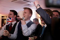 UK ENGLAND LONDON 24JUN16 - UKIP supporters celebrate televised reults being accounced during referendum night at the Vote Leave party at Millbank Tower, Westminster, London.<br /> <br /> jre/Photo by Jiri Rezac<br /> <br /> © Jiri Rezac 2016
