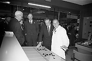 22/10/1963<br /> 10/22/1963<br /> 22 October 1963<br /> R.D.S. Scientific Exhibition opens. ESB stand at the exhibition. Taoiseach Sean Lemass second from right.
