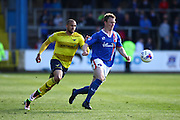 Oxford forward Jordan Bowery on the attack during the Sky Bet League 2 match between Carlisle United and Oxford United at Brunton Park, Carlisle, England on 30 April 2016. Photo by Craig McAllister.