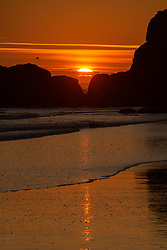 Sunset at Kalaloch Beach 4, Olympic National Park, Washington, US