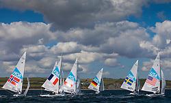 Star fleet downwind<br /> <br /> 2012 Olympic Games <br /> London / Weymouth
