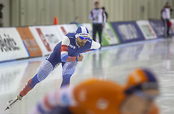 March 9, 2019 - Salt Lake City, Utah, USA - Alexander Rumyantsev of Russia competes in the 5000m speed skating finals at the ISU World Cup at the Olympic Oval in Salt Lake City, Utah. (Credit Image: © Natalie Behring/ZUMA Wire)