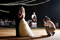 Brady Campbell captures Ryan and Jenny Allen during their first dance as husband and wife following their wedding held Saturday, July 30, 2011 in Deer Park, Wash.