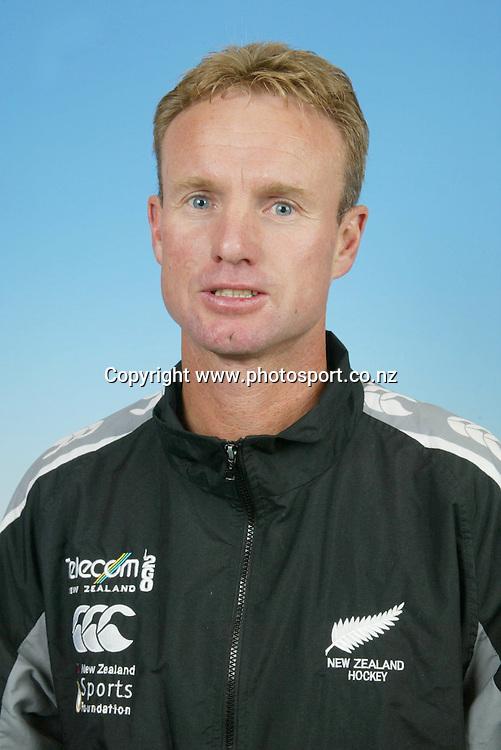 10 April 2003, New Zealand Womens Hockey headshots.<br />Assistant Coach Chris Leslie<br />Pic: Sandra Teddy/Photosport