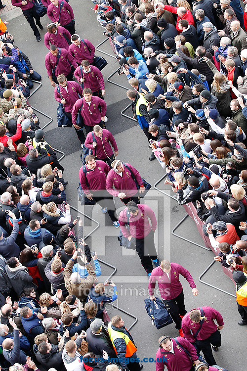 Picture by Andrew Tobin/Focus Images Ltd +44 7710 761829<br /> 16/11/2013<br />  The England team walk into the stadium before the QBE Internationals  match at Twickenham Stadium, Twickenham.