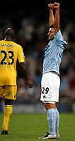 Photo: Paul Thomas.<br /> Manchester City v Derby County. The FA Barclays Premiership. 15/08/2007.<br /> <br /> Valeri Bojinov of City celebrates the final whistle.