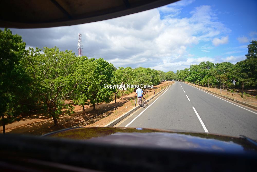 View of road from Safari Jeep, Sri Lanka