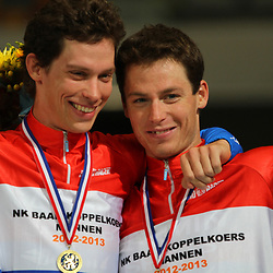 Michel en Raymond Kreder Nederlnds Kampioen koppelkoers elite mannen