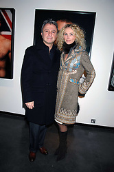 RAFFI & JO MANOUKIAN at a private view of Octagan a showcase of work of photographer Kevin Lynch featuring the stars of the Ultimate Fighter Championship held at Hamiltons gallery, Mayfair, London on 17th January 2008.<br />