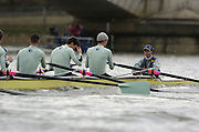 2005 Boat Race, Pre race fixture, Putney, London, ENGLAND. Cambridge University BC v GER M8+. Putney to Chiswick..CUBC - Bow Luke walton, 2, Tom Edwards, 3. Henry Adams, 4. Steffen Buschbacher, 5. Sebastian Schulte, 6. Matthias Kleinz, 7. Tom James, Stroke Bernd Heidicker, cox Peter Rudge...GER M8+ - Bow, Jocchen Urban, Sebastian Thormann, Stefan Koltxk, Ulf Siemes, Thorsten Englemann, Jan-Martin Broer, Jan Tebrugge, Andreas Penkner..Photo  Peter Spurrier. .email images@intersport-images...[Mandatory Credit Peter Spurrier/ Intersport Images] Rowing Course: River Thames, Championship course, Putney to Mortlake 4.25 Miles, Varsity:Boat Race