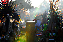 "In a colorful indigenous ritual celebrated in Salinas, Aztec teachers, dancers, family and friends gathered together to perform an ""xilonen"" ritual for Josselyn Melanie Cuauhyolotzin, at the home of her parents. The elaborate ceremony on Saturday, February 9th, 2013, marked the transition from childhood to maidenhood. It is also one of the spiritual bases in Mexican tradition for the ""quinceanera."""