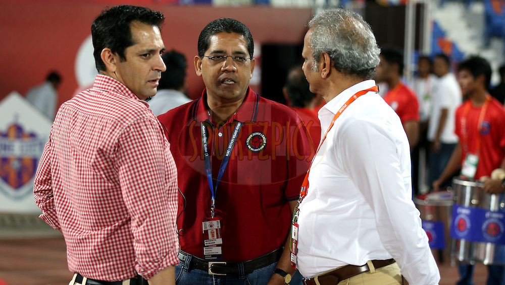 Anupam Dutta CEO, Hero Indian Super League during match 44 of the Hero Indian Super League between FC Pune City<br /> and Atletico de Kolkata FC held at the Shree Shiv Chhatrapati Sports Complex Stadium, Pune, India on the 29th November 2014.<br /> <br /> Photo by:  Sandeep Shetty/ ISL/ SPORTZPICS