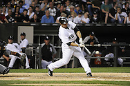 CHICAGO - JUNE 06:  Carlos Quentin #20 of the Chicago White Sox bats against the Seattle Mariners on June 6, 2011 at U.S. Cellular Field in Chicago, Illinois.  The White Sox defeated the Mariners 3-1.  (Photo by Ron Vesely)  Subject:  Carlos Quentin