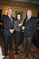Left to right, ADMIRAL LORD WEST, SARA HALES and her father SIR ROBIN KNOX-JOHNSON at the 2008 Oldie of The year Awards and lunch held at Simpsons in The Strand, London on 11th March 2008.<br /><br />NON EXCLUSIVE - WORLD RIGHTS