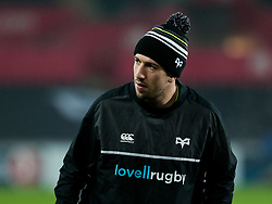 Ospreys' Justin Tipuric during the pre match warm up<br /> <br /> Photographer Simon King/Replay Images<br /> <br /> European Rugby Champions Cup Round 5 - Ospreys v Saracens - Saturday 13th January 2018 - Liberty Stadium - Swansea<br /> <br /> World Copyright © Replay Images . All rights reserved. info@replayimages.co.uk - http://replayimages.co.uk