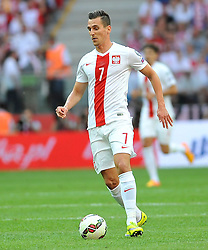 13.06.2015, Nationalstadion, Warschau, POL, UEFA Euro 2016 Qualifikation, Polen vs Greorgien, Gruppe D, im Bild ARKADIUSZ MILIK SYLWETKA // during the UEFA EURO 2016 qualifier group D match between Poland and Greorgia at the Nationalstadion in Warschau, Poland on 2015/06/13. EXPA Pictures © 2015, PhotoCredit: EXPA/ Pixsell/ RAFAL RUSEK<br /> <br /> *****ATTENTION - for AUT, SLO, SUI, SWE, ITA, FRA only*****