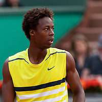 1 June 2009: Gael Monfils of France is seen during the Men's Single Fourth Round match on day nine of the French Open at Roland Garros in Paris, France.