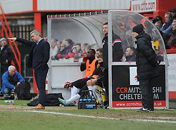 Cheltenham Town's Caretaker Manager Russell Milton,- Photo mandatory by-line: Nizaam Jones - Mobile: 07966 386802 - 14/02/2015 - SPORT - Football - Cheltenham - Whaddon Road - Cheltenham Town v Bury - Sky Bet League Two