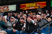KELOWNA, CANADA - FEBRUARY 2:  Fans ham it up for the camera on February 2, 2019 at Prospera Place in Kelowna, British Columbia, Canada.  (Photo by Marissa Baecker/Shoot the Breeze)