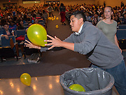 Chavez High School freshmen participate in a rally for STAAR, March 27, 2014.