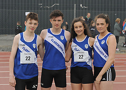 Claremorris winners U16 mixed relay at Mayo Community Games from left Padraig Commins, Sean Joyce, Joanne Reidy and Aoife Bermingham.<br />Pic Conor McKeown