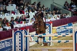 WOLF Cedric (GER), Chicitito<br /> Neustadt-Dosse - CSI 2019<br /> Championat von Neustadt-Dosse<br /> Preis der Deutschen Kreditbank AG<br /> 12. Januar 2019<br /> © www.sportfotos-lafrentz.de/Stefan Lafrentz