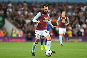 Aston Villa midfielder Jota (23) sprints forward with the ball during the Premier League match between Aston Villa and Everton at Villa Park, Birmingham, England on 23 August 2019.