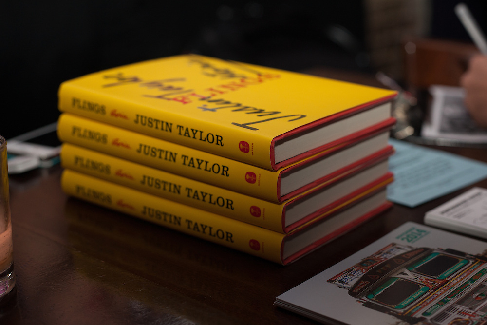 HiFi Reading Series event with Justin Taylor, author of Flings: Stories. Featuring up and coming writers Alec Niedenthal and Leopoldine Core.