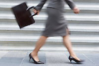 Businesswoman Walking Fast