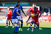 Dominic Poleon of Crawley Town in action during the EFL Sky Bet League 2 match between Crawley Town and Macclesfield Town at The People's Pension Stadium, Crawley, England on 23 February 2019.