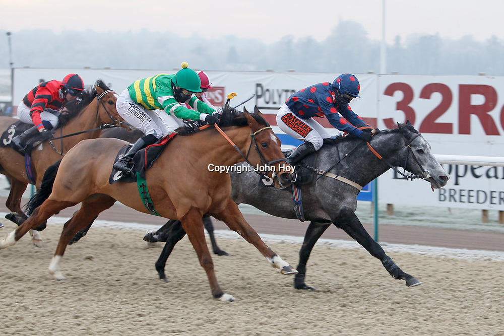 Calypso Magic and Kirsty Milczarek winning the 1.00 race