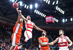 10.02.2016, ratiopharm arena, Ulm, GER, ULEB Eurocup, ratiopharm Ulm gegen FC Bayern Muenchen, Top 32 Runde, im Bild Pierria Henry #15 (ratiopharm Ulm), Justin Cobbs #10 (FC Bayern) // during the round of last 32 match of the ULEB Eurocup Basketball between ratiopharm Ulm an FC Bayern Munich at the ratiopharm arena in Ulm, Germany on 2016/02/10. EXPA Pictures © 2016, PhotoCredit: EXPA/ Eibner-Pressefoto/ Walther<br /> <br /> *****ATTENTION - OUT of GER*****