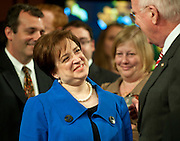 June 28, 2010 - Washington, District of Columbia, U.S., -  Solicitor General Elena Kagan speaks with Senator Patrick Leahy following her opening statement to the Senate Judiciary Committee  during hearings on her nomination to be an associate justice of the Supreme Court.(Credit Image: © Pete Marovich/ZUMA Press)