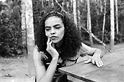 Marina Silva (Rio Branco-Brazil 1958). In Chico Mendes Park, Rio Branco, in july 1997, then member of the brazilian senate for the state of Acre.She was member of the Partido dos Trabalhadores (PT), and main collaborator of Chico Mendes, the landless leader killed december 22nd, 1988, in Xapuri. In 1994, she was elected to the Senate at the age of 36.In 2003, she was Lula's minister of environment.In 2009, she left the PT for the Brazil Green party, and decided to run for presidency in 2010.