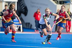 Surbiton's Hannah Martin. University of Birmingham v Surbiton - Semi-Final - Investec Women's Hockey League Finals, Lee Valley Hockey & Tennis Centre, London, UK on 22 April 2017. Photo: Simon Parker