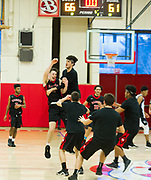 Watertown High School during the MIAA Division 3 state semifinal game against Jeremiah E. Burke High School in Burlington, March 14, 2018. The Raiders won the game, 66-61. [Wicked Local Photo/James Jesson]