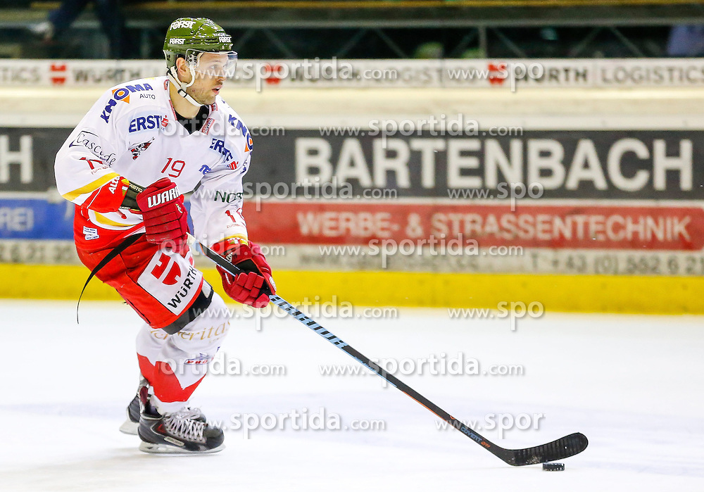 18.01.2015, Messestadion, Dornbirn, AUT, EBEL, Dornbirner EC vs HCB Suedtirol, 40. Runde, im Bild Rick Schofield, (HCB Suedtirol, #19) // during the Erste Bank Icehockey League 40th round match between Dornbirner EC and HCB Suedtirol at the Messestadion in Dornbirn, Austria on 2015/01/18, EXPA Pictures © 2015, PhotoCredit: EXPA/ Peter Rinderer