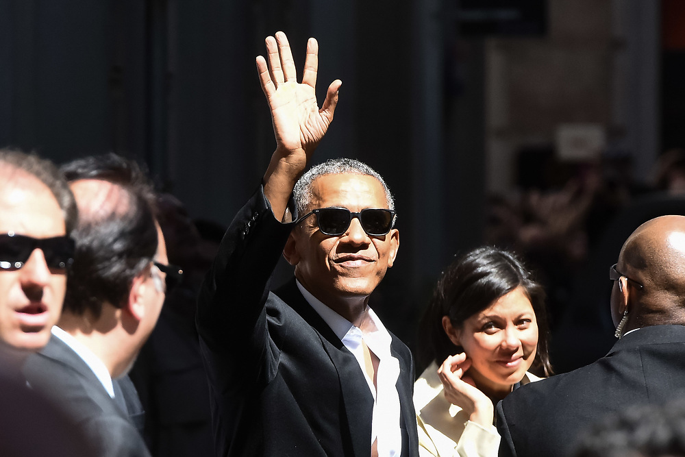 Barack Obama visits Milan