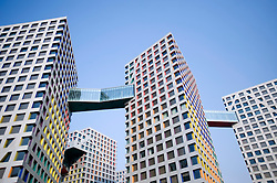 Modern high rise apartment buildings in Central Business District of Beijing in China 2009